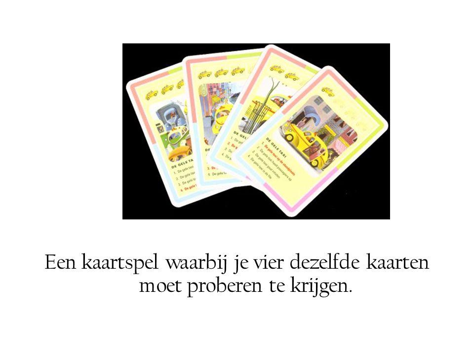 Een kaartspel waarbij je vier dezelfde kaarten moet proberen te krijgen.