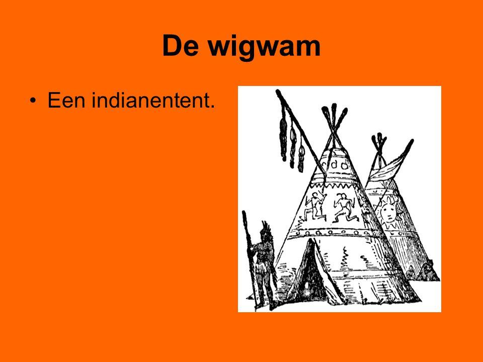 De wigwam Een indianentent.