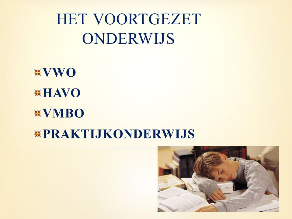 6 VWO 5 HAVO 4 VMBOPRO 3 2 1 TLGLKBLBBL WOHBOMBOWerken Leerwegondersteunend onderwijs Niveau 3 en 4 Niveau 2 en 3 Niveau 1 en 2