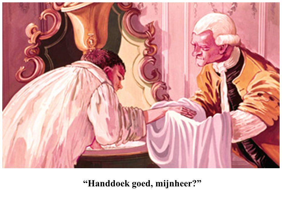 """""""Handdoek goed, mijnheer?"""""""