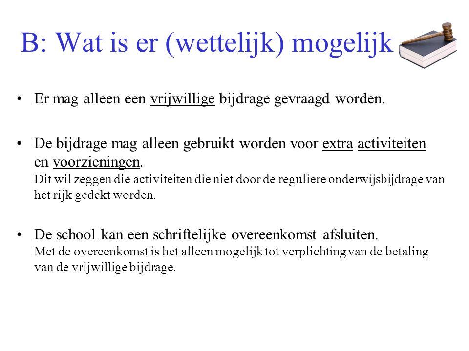 C: Inventarisatie (Montessori-) Scholen De scholen die ook de overblijf financieren hebben een duidelijk hogere bijdrage.