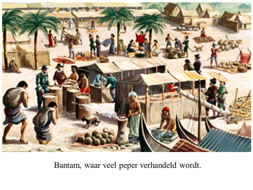 Bantam, waar veel peper verhandeld wordt.