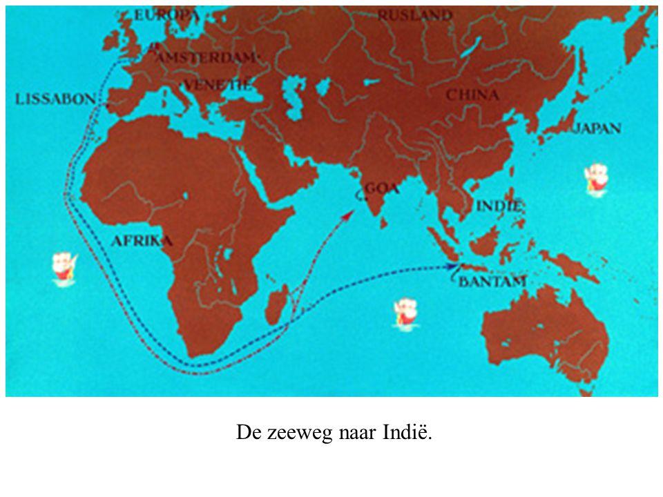 Kaartje van de tocht, naar 16e eeuwse gegevens.