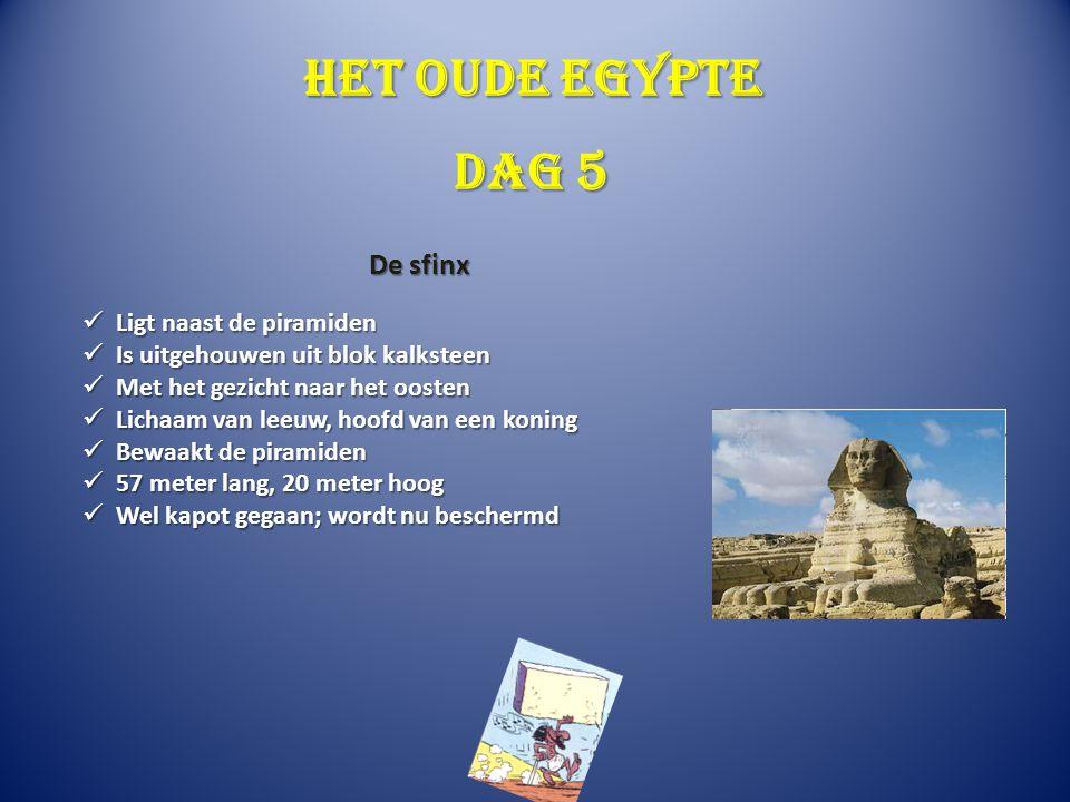 Het oude Egypte Ligt naast de piramiden Ligt naast de piramiden Is uitgehouwen uit blok kalksteen Is uitgehouwen uit blok kalksteen Met het gezicht na