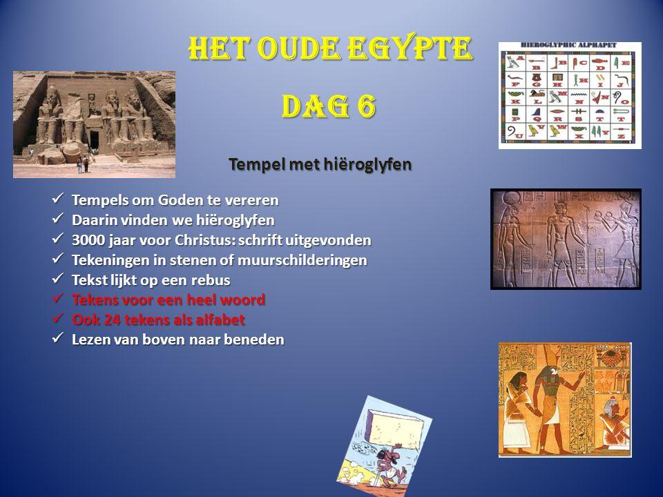Het oude Egypte Tempels om Goden te vereren Tempels om Goden te vereren Daarin vinden we hiëroglyfen Daarin vinden we hiëroglyfen 3000 jaar voor Chris