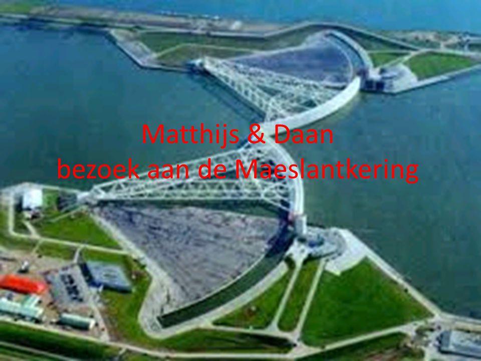 Matthijs & Daan bezoek aan de Maeslantkering