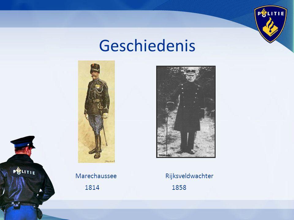 Geschiedenis Marechaussee Rijksveldwachter 1814 1858