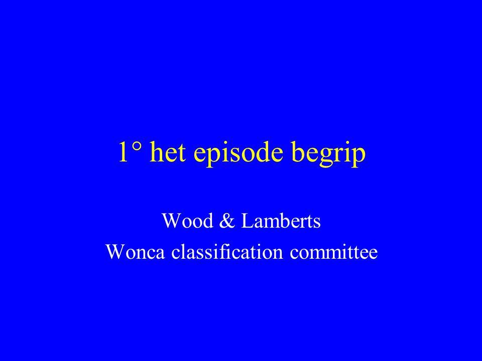 1° het episode begrip Wood & Lamberts Wonca classification committee
