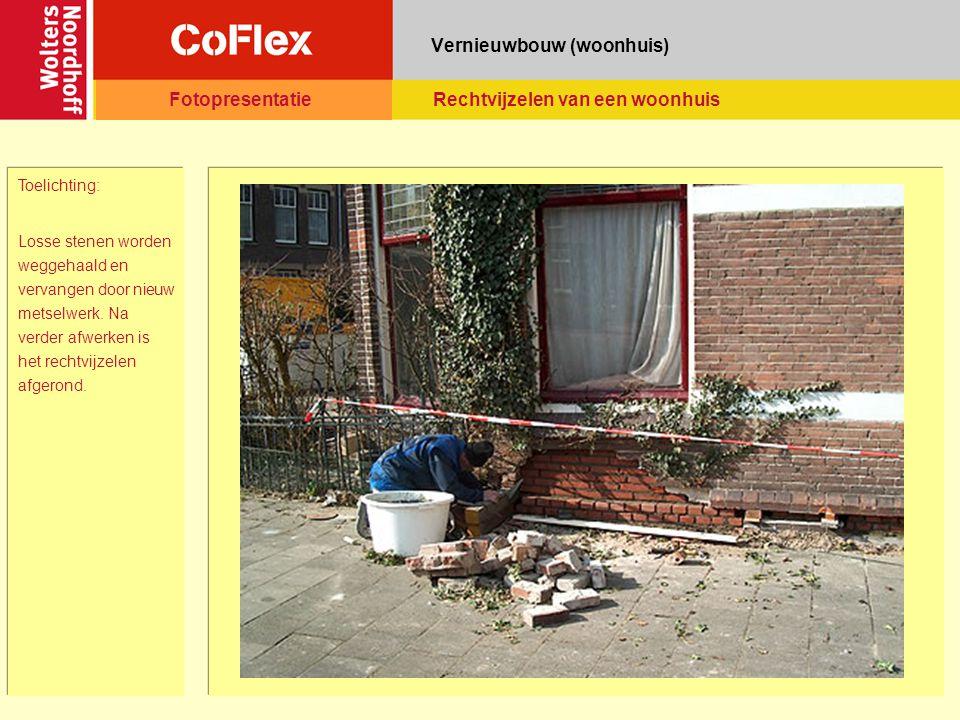 Vernieuwbouw (woonhuis) Toelichting: Losse stenen worden weggehaald en vervangen door nieuw metselwerk.