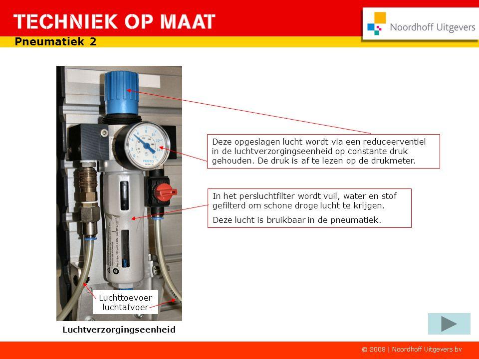 Hiervoor gebruik je een compressor. Deze zuigt lucht uit zijn omgeving aan en pompt die in een drukvat. De druk loopt daarin op tot een bepaalde waard