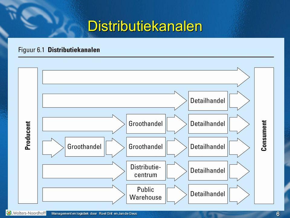 17 Management en logistiek door Roel Grit en Jan de Geus ICT-hulpmiddelen Warehouse Management Systeem (WMS) Enterprise Resource Planning (ERP-software): bedrijfsinformatiesysteem met ook functies voor distributie.