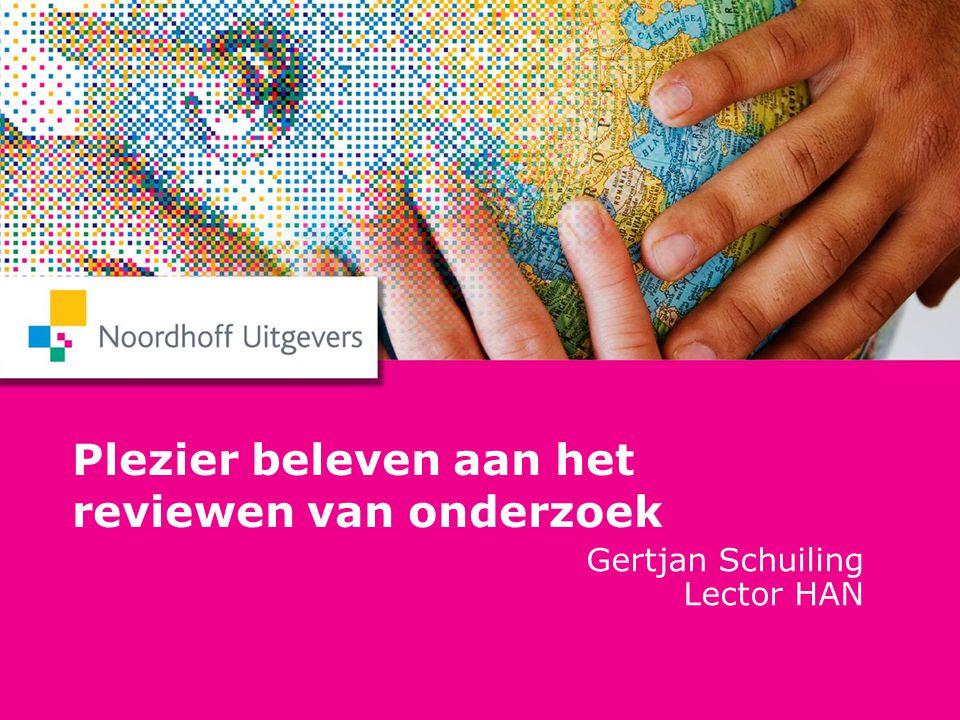 Themadag Onderzoek 2010 Gertjan Schuiling 5 nominaties uit 15 inzendingen 1.