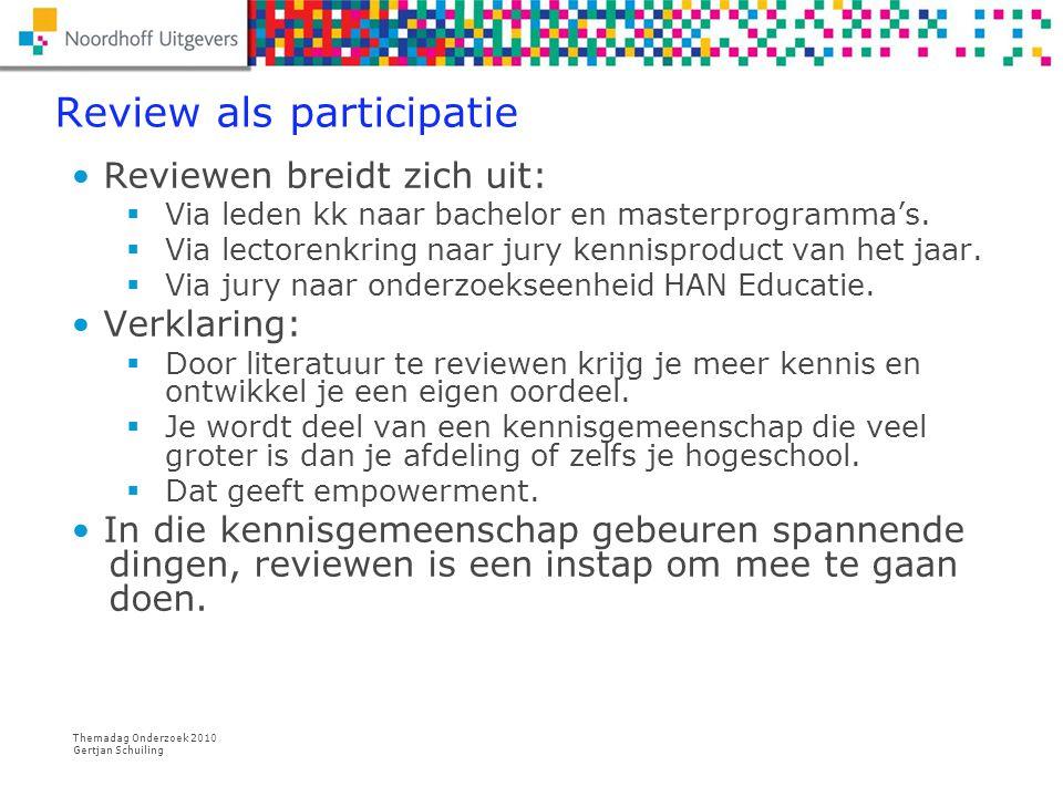 Themadag Onderzoek 2010 Gertjan Schuiling Praktijkforum 1.