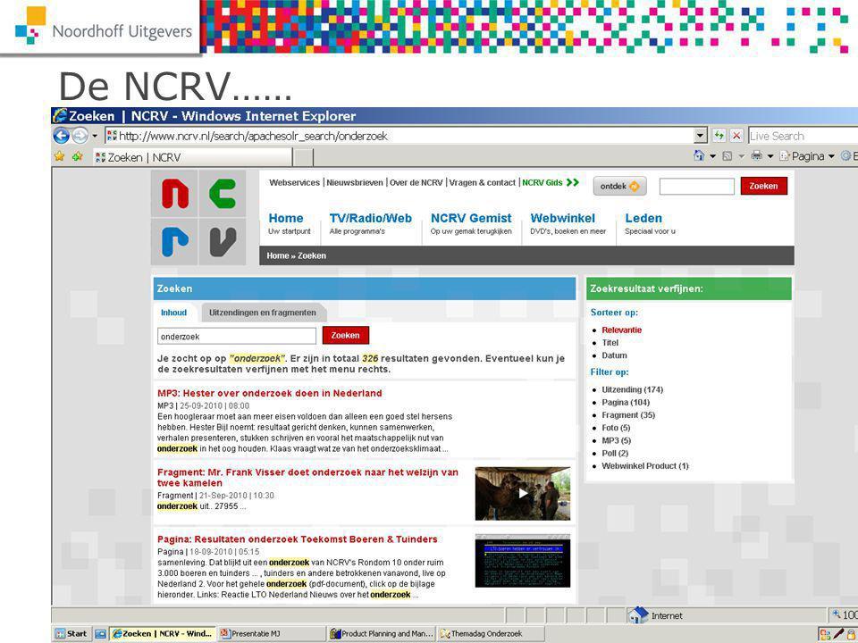 Themadag Onderzoek 2010 Mark JulsingNaam spreker De NCRV……