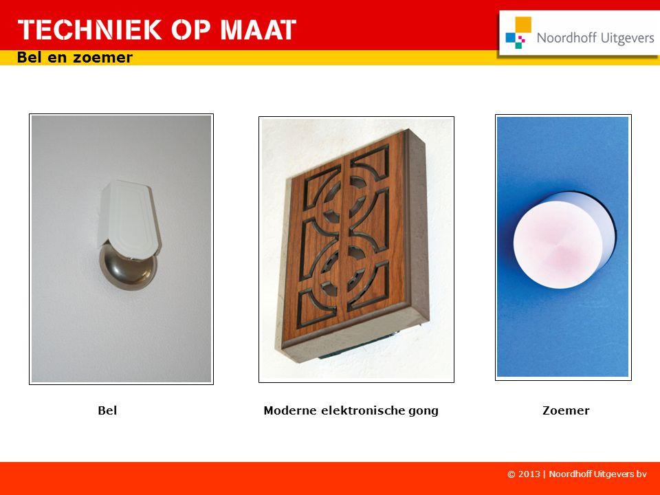 Copyright © Wolters-Noordhoff Bel Moderne elektronische gong Zoemer Bel en zoemer © 2013 | Noordhoff Uitgevers bv