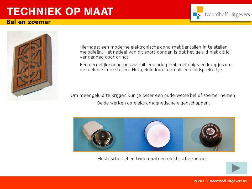 Copyright © Wolters-Noordhoff Hiernaast een moderne elektronische gong met tientallen in te stellen melodieën.