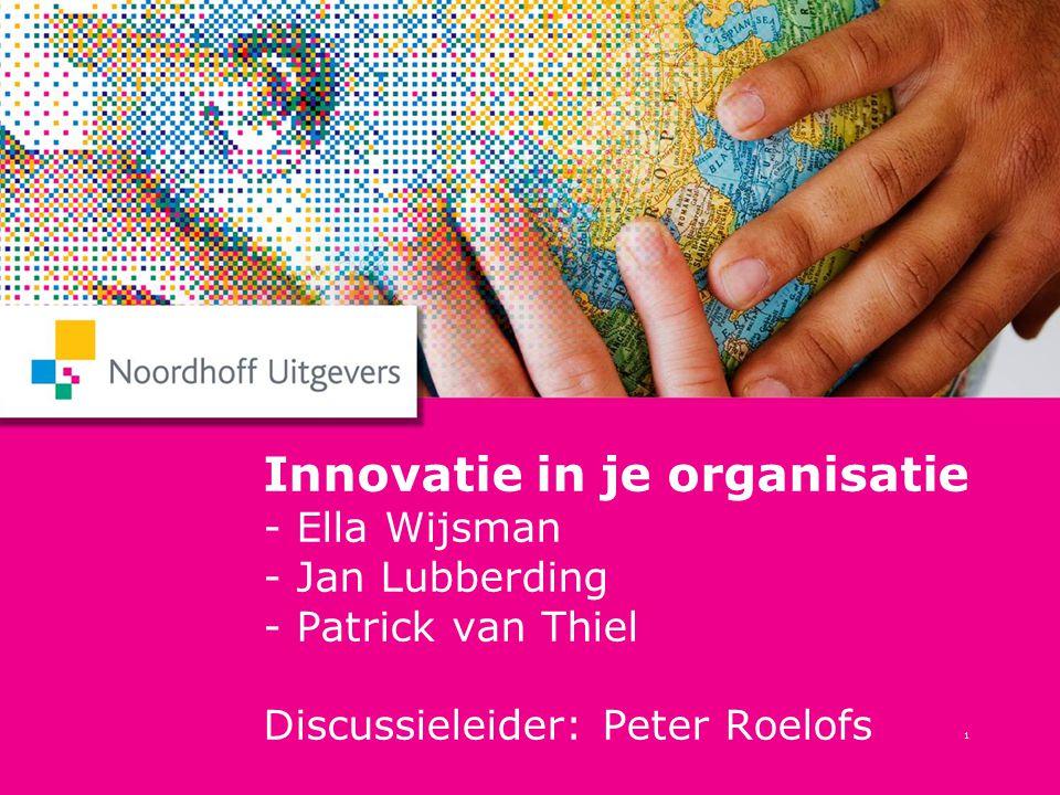 2 Patrick van Thiel Het merk is een veel belangrijkere driver voor innovatie dan technologie.