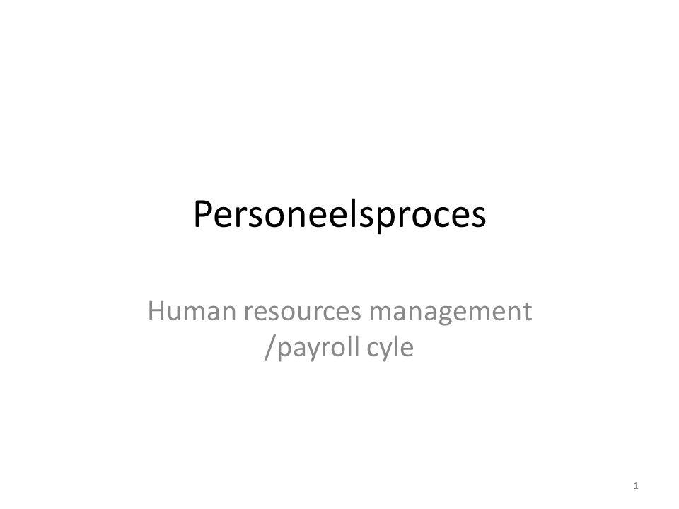 Personeelsproces 1.Werving & selectie 2.Inzetten 3.Beoordelen 4.Uitbetalen 2