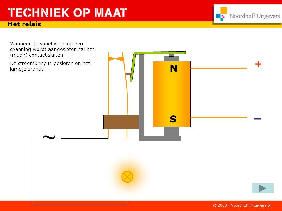 ~ Het relais De contacten kun je gebruiken voor het sluiten van een stroomkring. In de rusttoestand van het relais is het contact open. Er is geen ges
