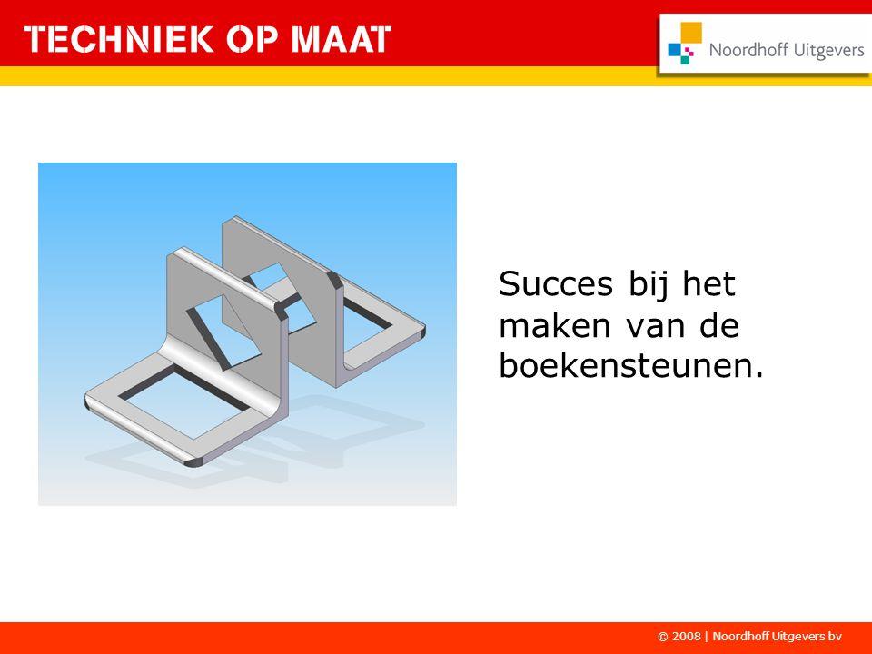 Succes bij het maken van de boekensteunen. © 2008 | Noordhoff Uitgevers bv