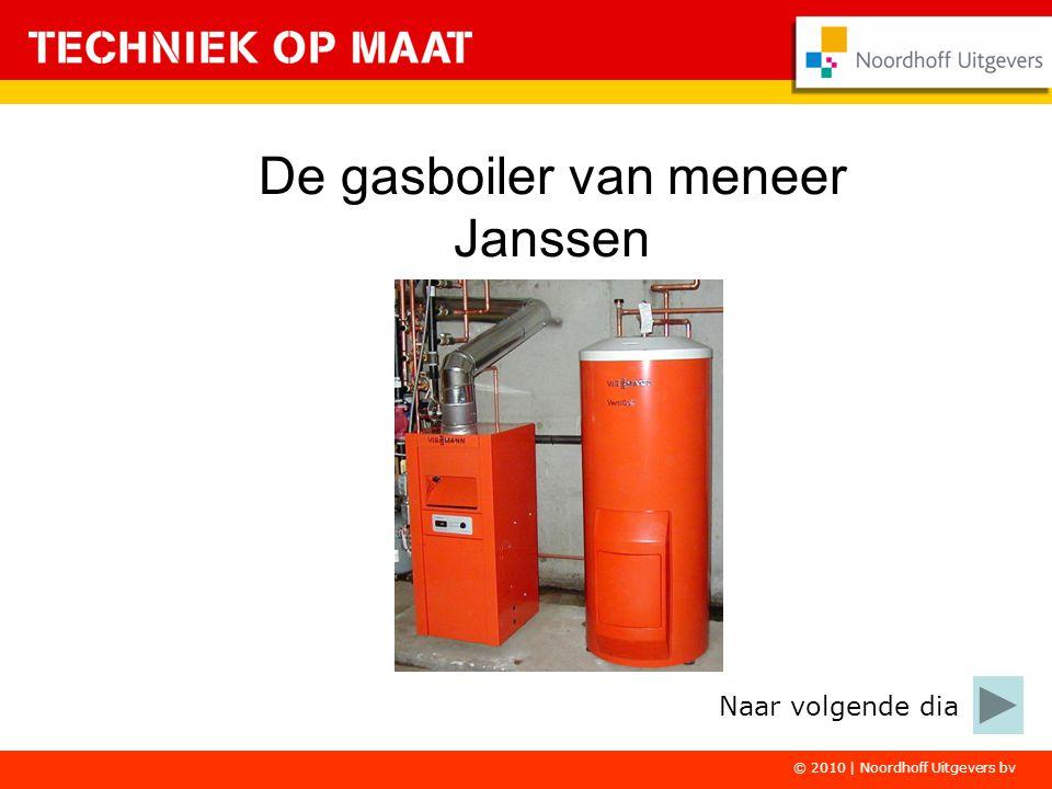 © 2010 | Noordhoff Uitgevers bv De gasboiler van meneer Janssen Naar volgende dia