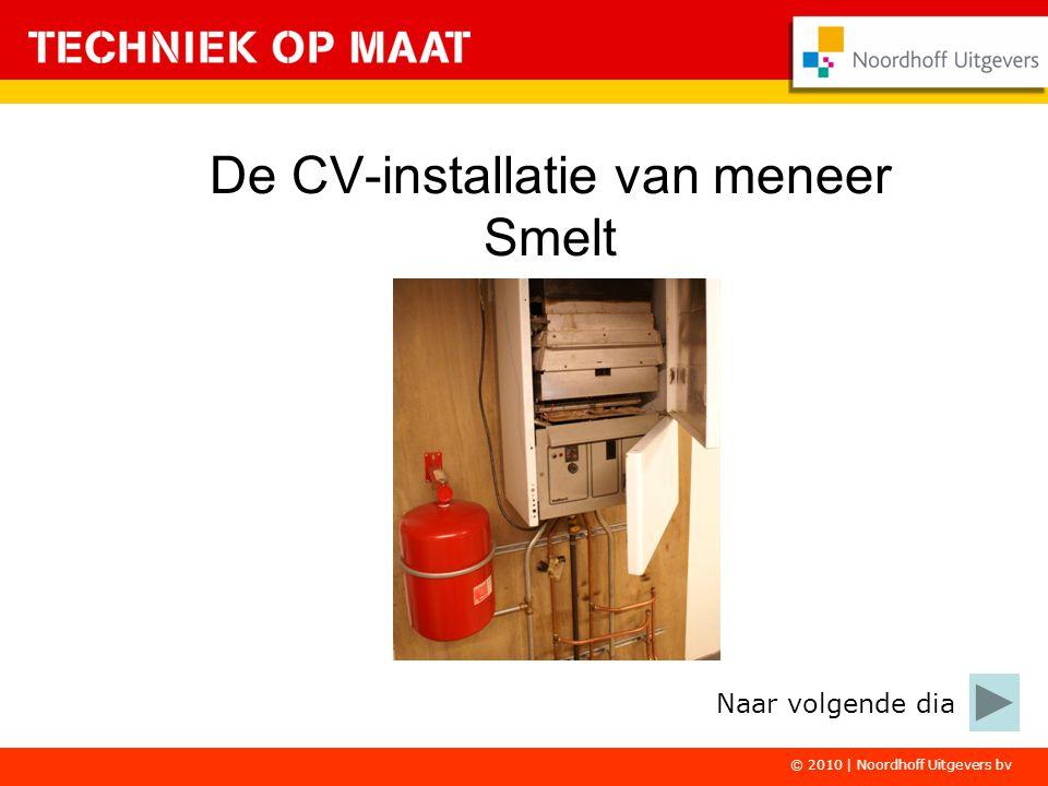 © 2010 | Noordhoff Uitgevers bv De CV-installatie van meneer Smelt Naar volgende dia
