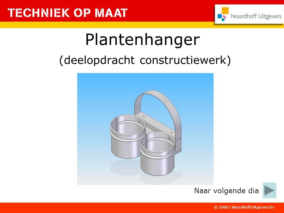 © 2008 | Noordhoff Uitgevers bv Plantenhanger (deelopdracht constructiewerk) Naar volgende dia