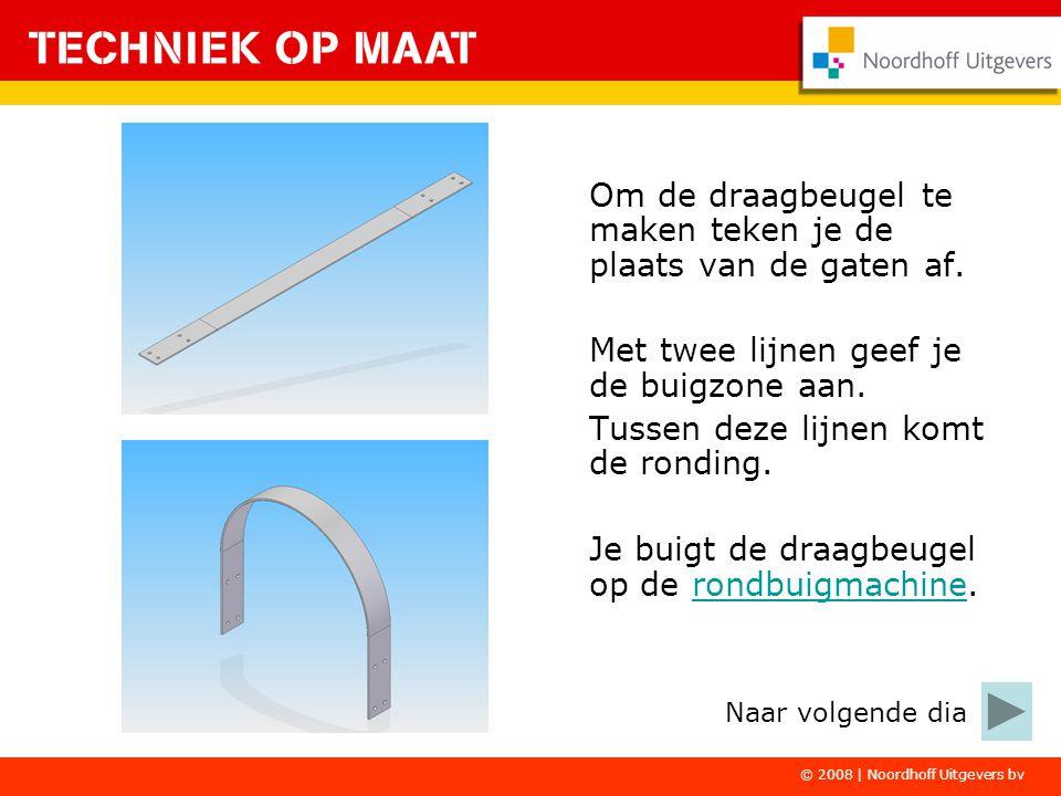© 2008 | Noordhoff Uitgevers bv Om de draagbeugel te maken teken je de plaats van de gaten af.