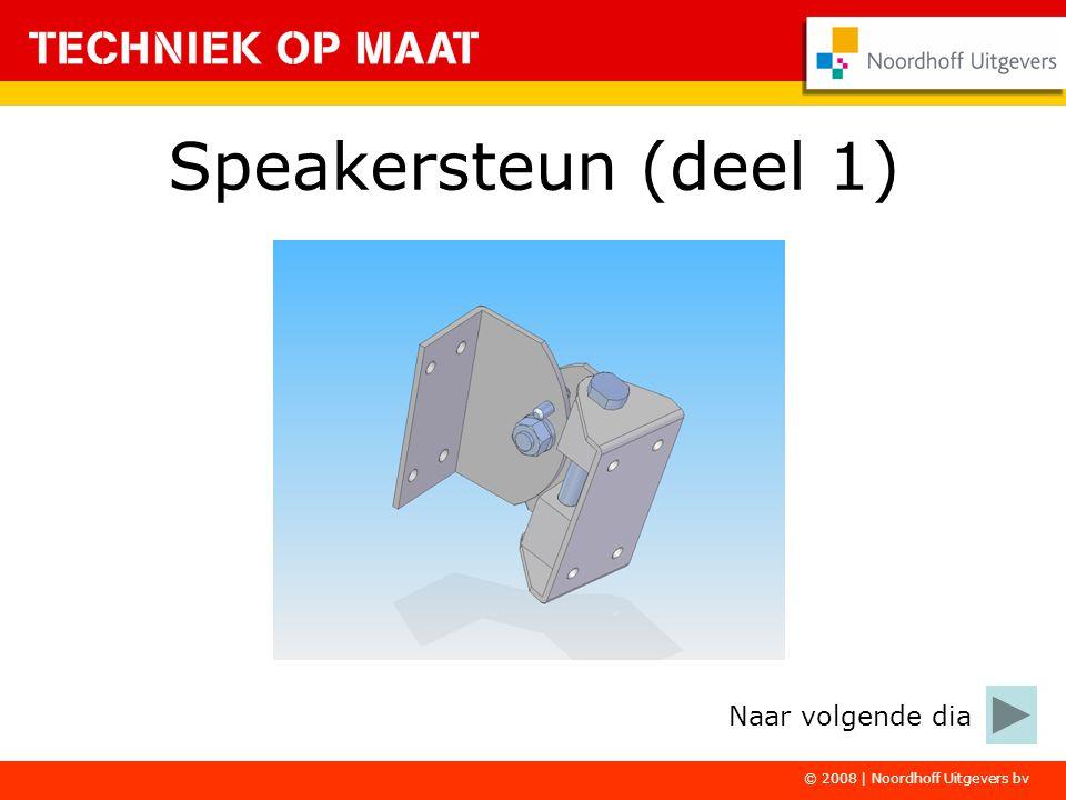 © 2008   Noordhoff Uitgevers bv De Speakersteun maak je in vier deelopdrachten.
