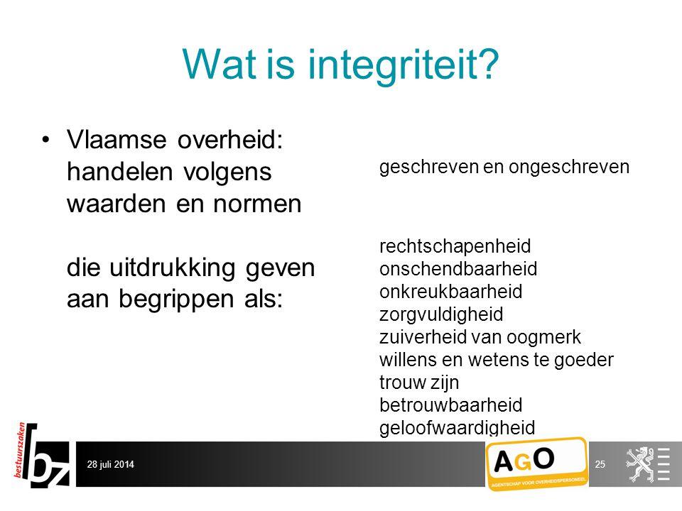 Wat is integriteit.
