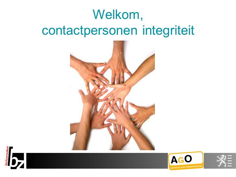 Welkom, contactpersonen integriteit
