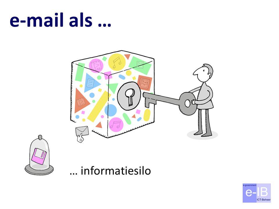 e-mail als … … informatiesilo