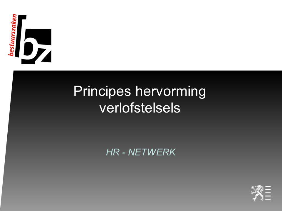 Principes hervorming verlofstelsels HR - NETWERK