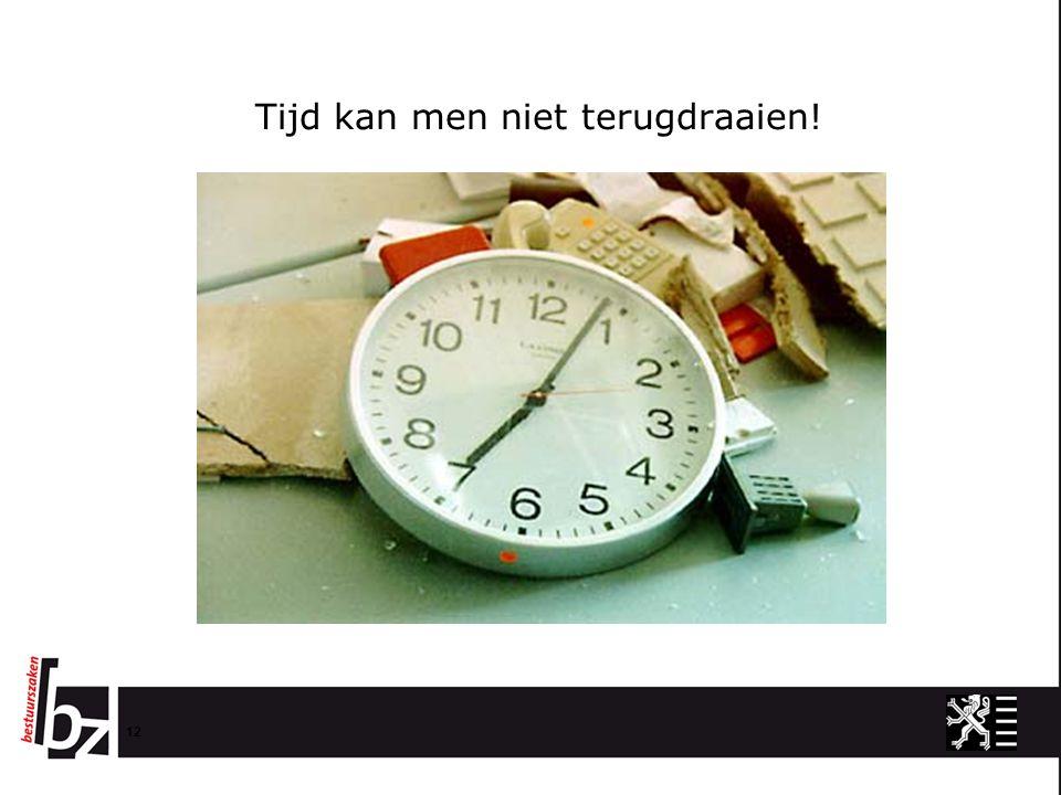 Tijd kan men niet terugdraaien! 12