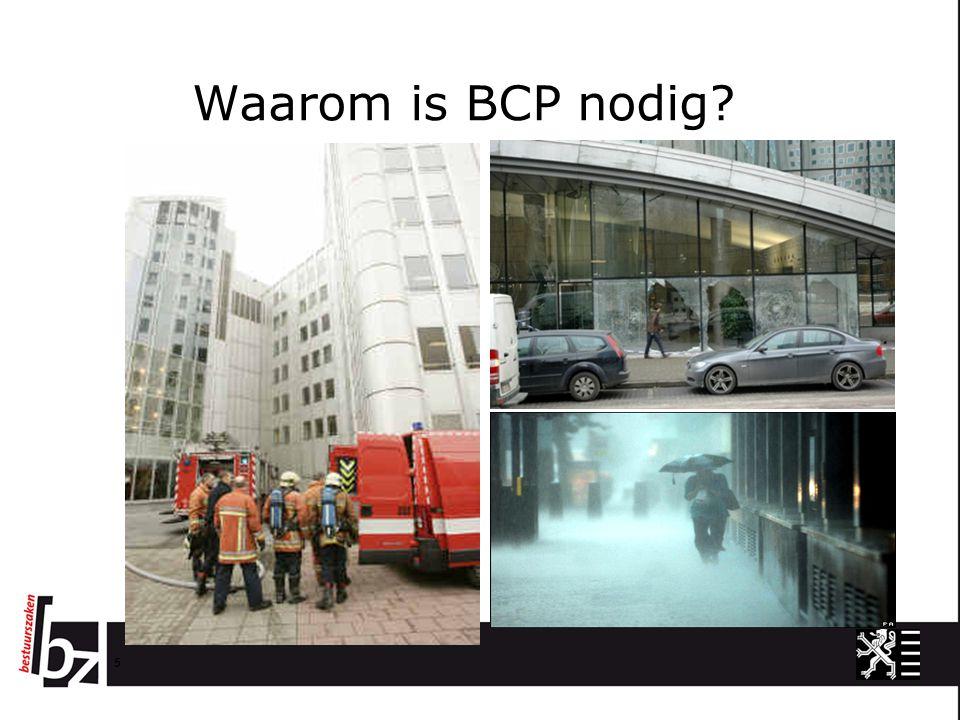 Waarom is BCP nodig? 5