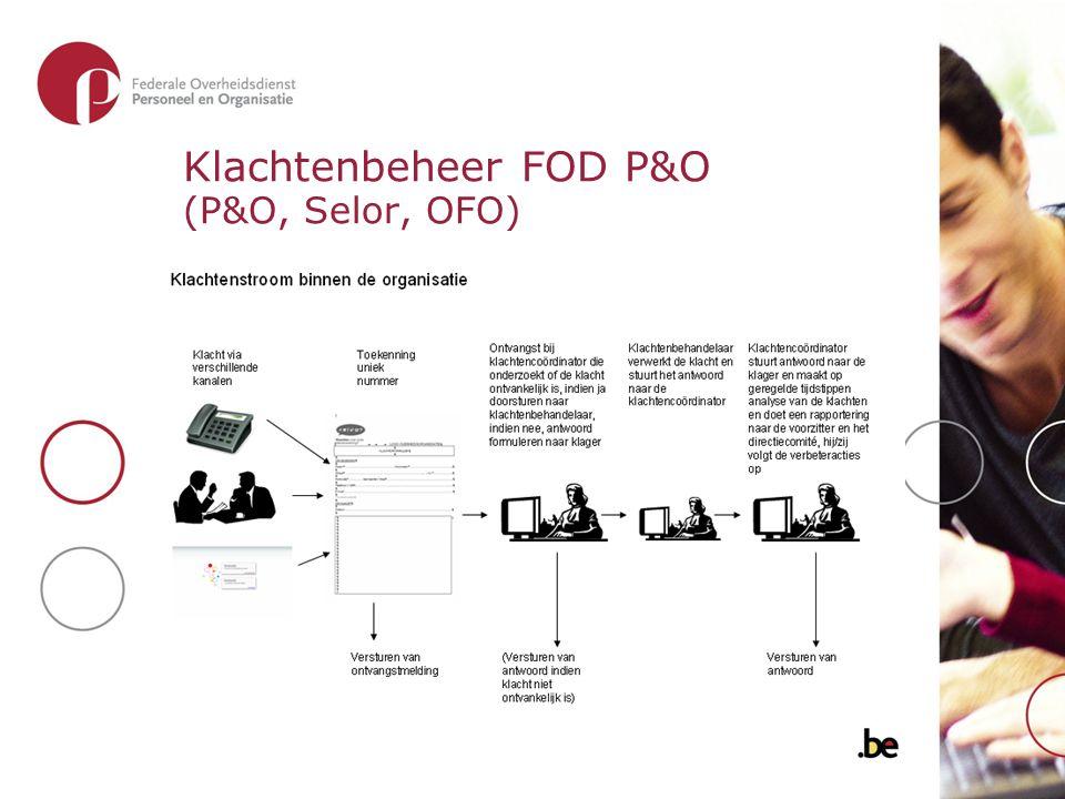 Klachtenbeheer FOD P&O (P&O, Selor, OFO)