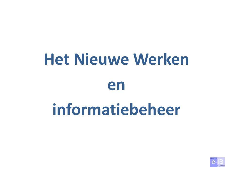 Basis informatiebeheer – Duidelijk toegewezen verantwoordelijkheden Wie draagt de verantwoordelijkheid voor elk aspect.