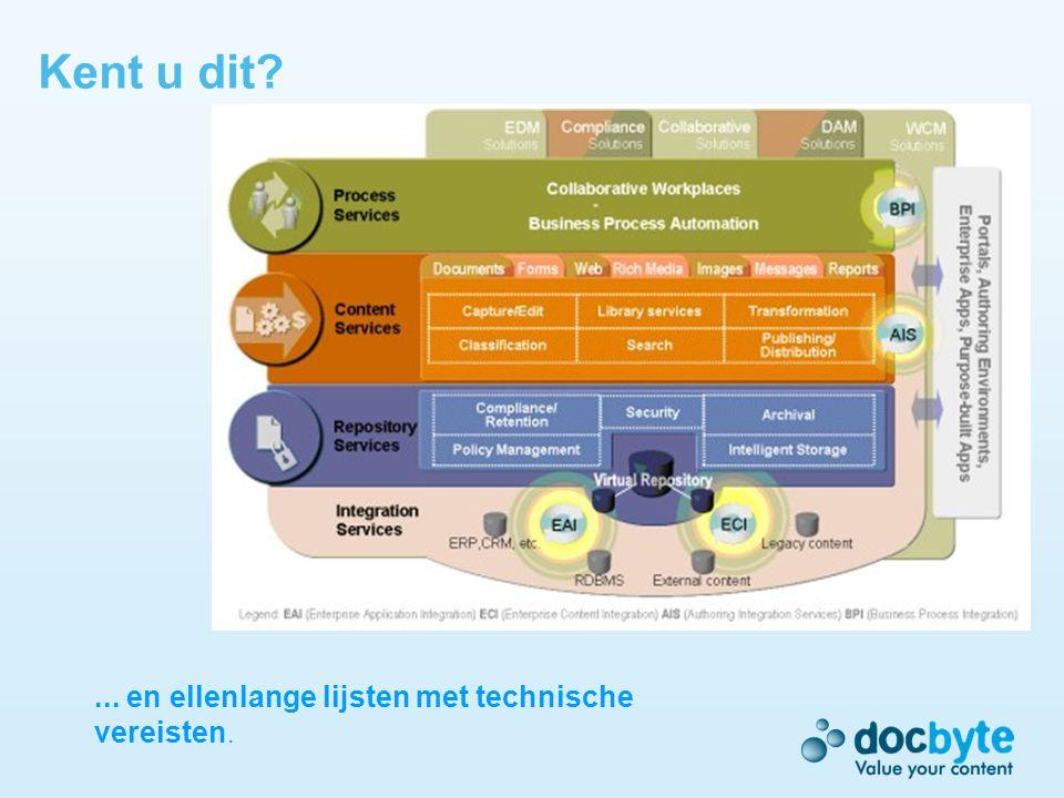 Dé succesfactor bij ECM: Change Management Doel: Samen met de eindgebruikers en management zorgen......