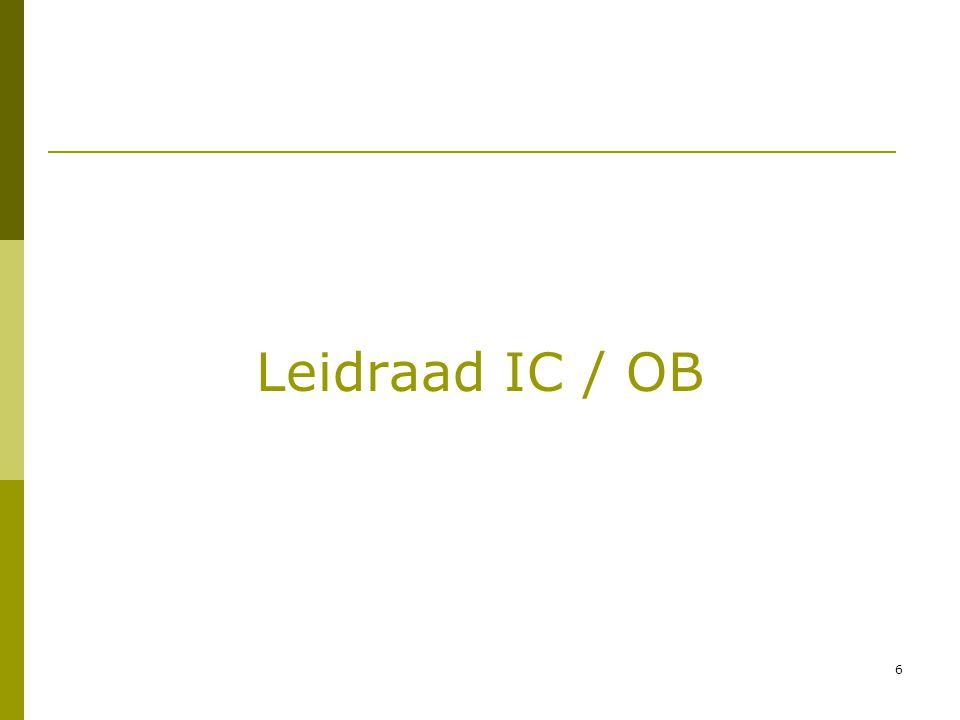 6 Leidraad IC / OB