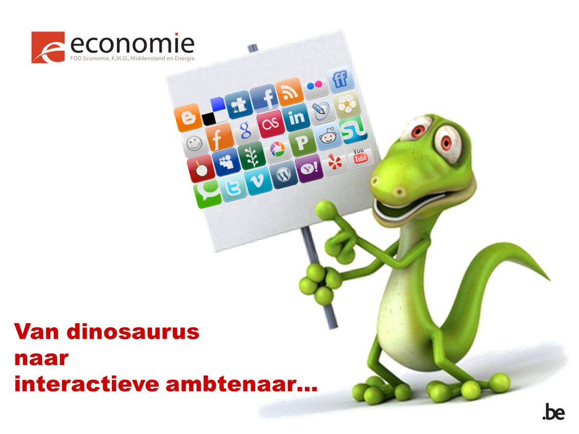 Van dinosaurus naar interactieve ambtenaar…
