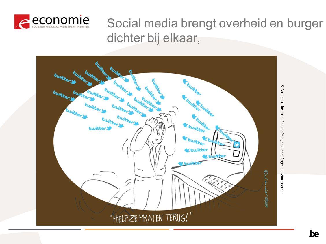© Cascadis. Illustratie: Sander Reintjens. Idee: Angélique van Haeren Social media brengt overheid en burger dichter bij elkaar,