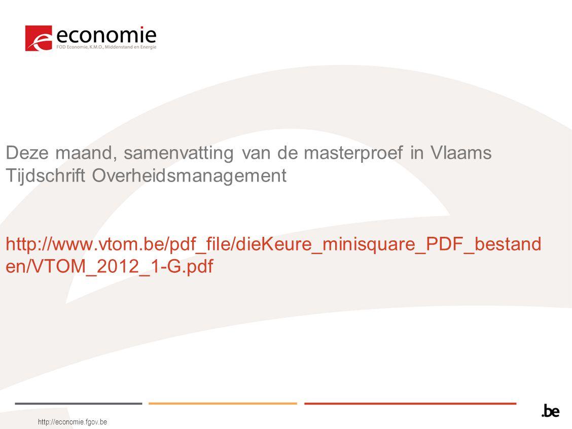 Deze maand, samenvatting van de masterproef in Vlaams Tijdschrift Overheidsmanagement http://www.vtom.be/pdf_file/dieKeure_minisquare_PDF_bestand en/V