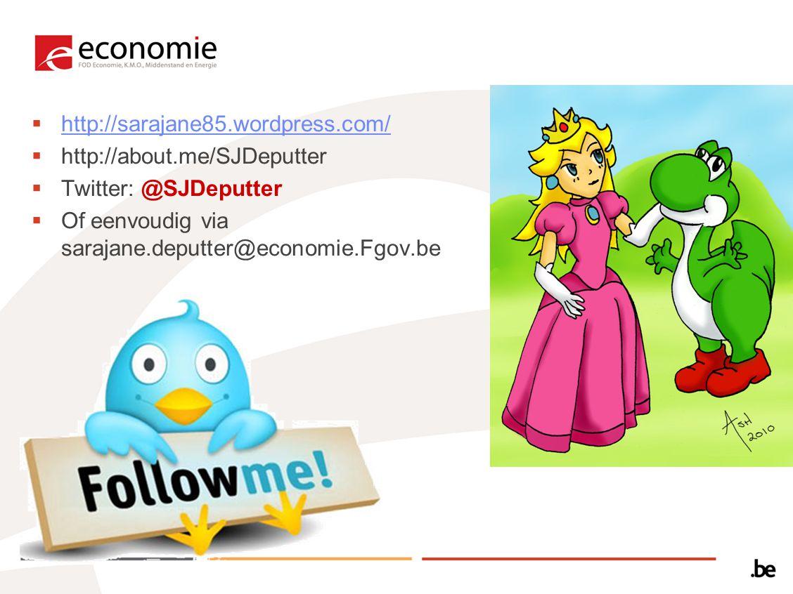 http://sarajane85.wordpress.com/ http://sarajane85.wordpress.com/  http://about.me/SJDeputter  Twitter: @SJDeputter  Of eenvoudig via sarajane.de