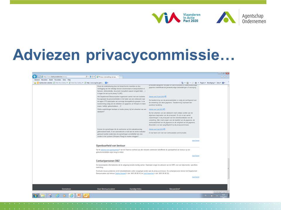 Adviezen privacycommissie…