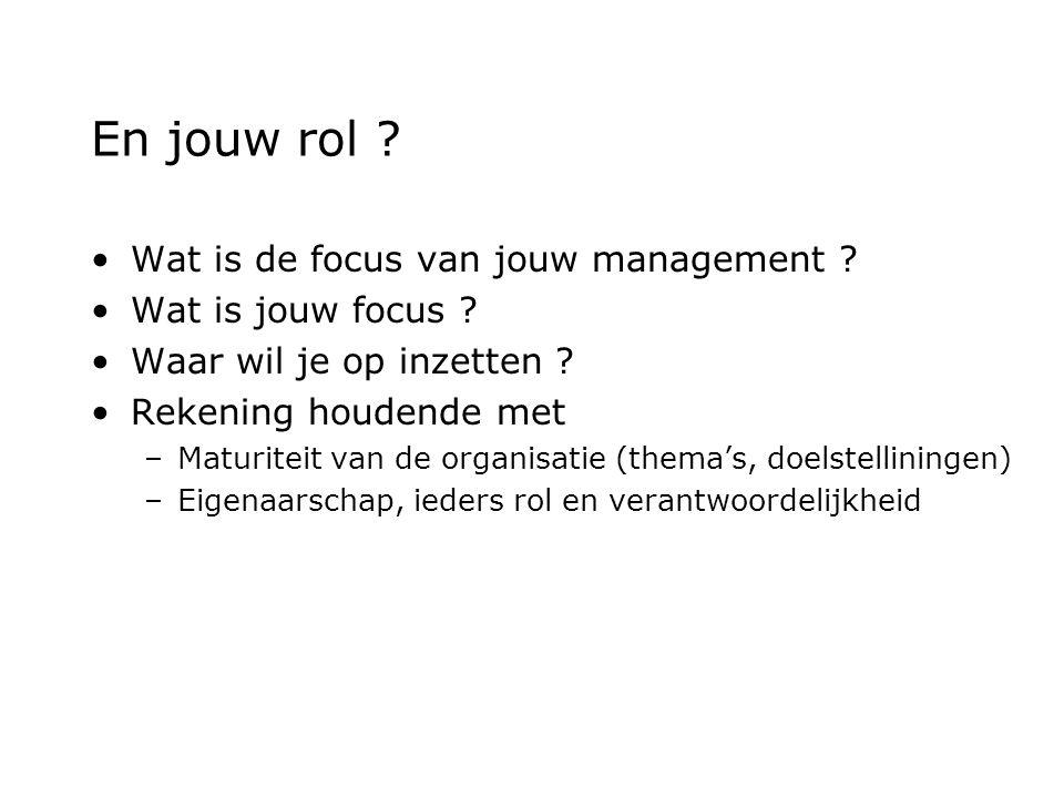 En jouw rol . Wat is de focus van jouw management .