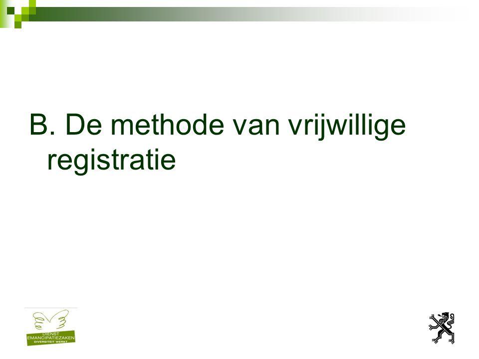 B. De methode van vrijwillige registratie