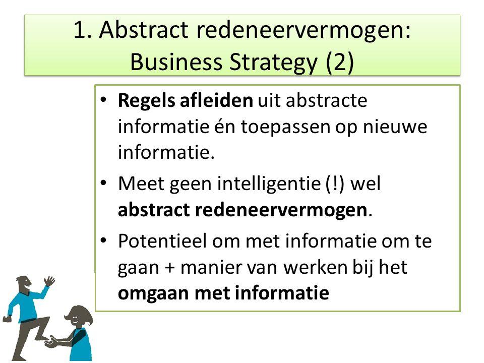 Regels afleiden uit abstracte informatie én toepassen op nieuwe informatie.