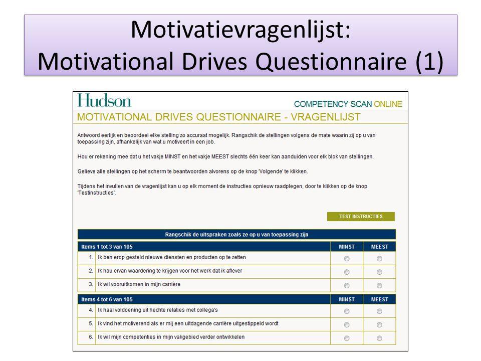Motivatievragenlijst: Motivational Drives Questionnaire (1)