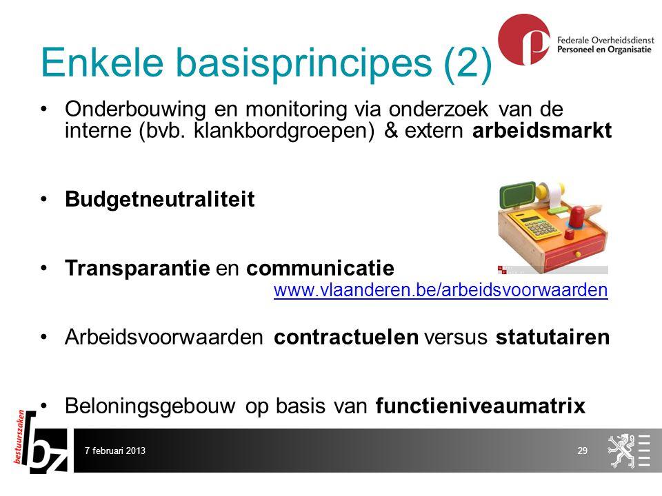 7 februari 201329 Onderbouwing en monitoring via onderzoek van de interne (bvb.