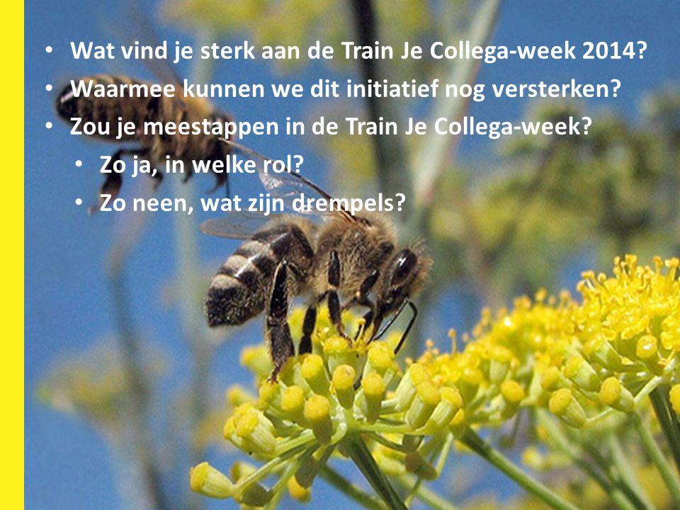 HR-deelnetwerk 23 mei 2014 15 Wat vind je sterk aan de Train Je Collega-week 2014? Waarmee kunnen we dit initiatief nog versterken? Zou je meestappen